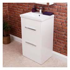 White Vanity Unit And Basin Vasari Gloss White Floorstanding Vanity Unit U0026 Basin 500idth