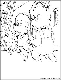 berenstein bears coloring pages free printable colouring pages
