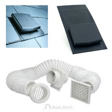 Extractor Fan Bathroom Slate Roof Tile Vent U0026 Inline Timer Extractor Shower Fan Kit