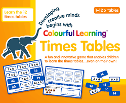 help learning times tables colourful learning times tables
