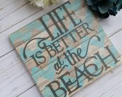 beachy signs wooden signs etsy