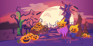 pink halloween background free background art for bubble witch saga 2 king tech blog
