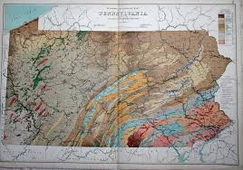 Pennsylvania On Map by An Overview Of Pennsylvania Mapping Circa 1850 To 1900