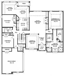 simple four bedroom house plans one floor picture single story