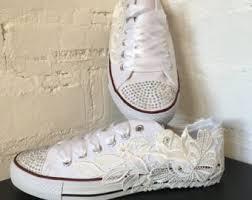 wedding shoes converse wedding converse etsy