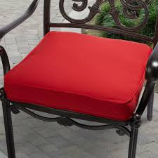 Indoor Outdoor Bench Cushions Indoor Outdoor 20 Inch Solid Traditional Chair Cushion With