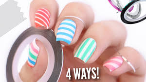 4 ways to easily get perfect striped nails youtube