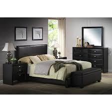 Walmart Bedroom Furniture 141 Ireland Faux Leather Bed Black Walmart Aph