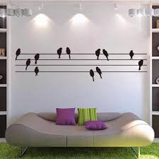 wire wall art home decor wire wall art diy for valentine u0027s free shipping new birds on wires modern living room wall art sticker mural decal present gift