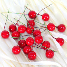 cherry decorations for home 60pcs christmas decorations for home red cherry fruit christmas