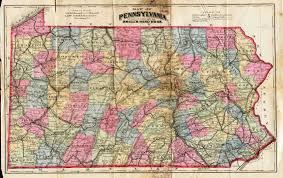 Map Pennsylvania by Pennsylvania In Early Pocket Maps
