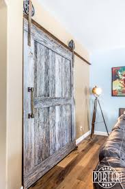 Reclaimed Wood Barn Doors by This Big Two Panel Barn Door We Built Installed For A Customer