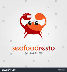 seafood restaurant logo design template vector stock vector