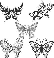 collection of 25 butterfly tattoo designs