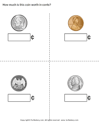 coin identification worksheet identify name and worth of coins worksheet turtle diary