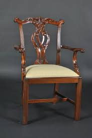 Chippendale Straight Leg Dining Room Chairs Philidelphia Style - Chippendale dining room