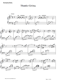 thanksgiving george winston stave preview 1 free piano sheet