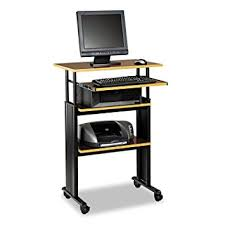 Computer Desk Stand Safco Products 1929cy Muv 35 49 H Stand Up Desk