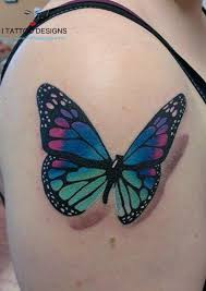 butterfly tattoos for and on back wrist