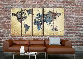 Wall Art World Map by Large World Map World Map Abstract Map Wall Art World Map