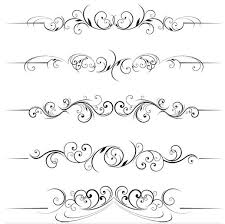 stylish ornamental borders 5 ai format free vector