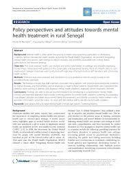 policy perspectives and attitudes towards mental health treatment