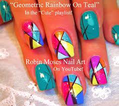 cute rainbow nail designs choice image nail art designs