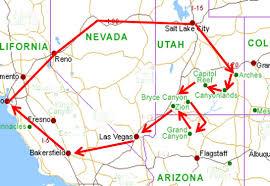 National Parks Road Trip Map Mike Heller U0027s Web Site Utah Road Trip