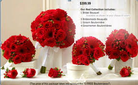 wedding in a box bouquets red in germantown md jireh u0027s flowers