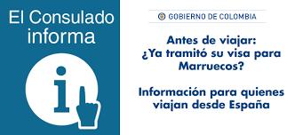 consolato colombiano consulado de colombia en rabat