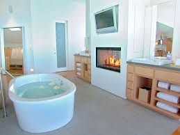 bathroom fancy fireplace in bathroom combine modern tv wall unit