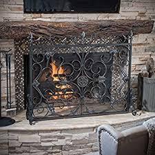 Fireplace Chain Screens - amazon com silver fireplace screens fireplace u0026 stove