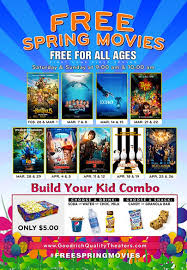 goodrich quality theaters 2015 free spring movies u2022 bargains to