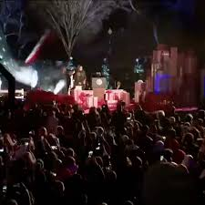national christmas tree lighting 2016 the firstfamily obama attends the last final the national