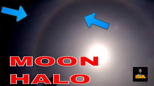 moon halo and meaning 22 degree halo around sun or moon