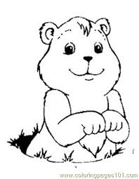 Groundhog Luking Coloring Page Free Groundhog Or Woodchuck Groundhog Color Page