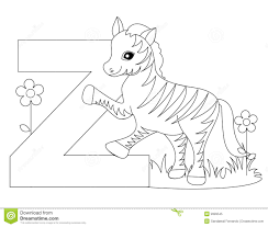 animal alphabet z coloring page royalty free stock photo image