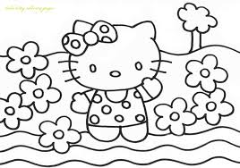 hellokitty free coloring pages on art coloring pages