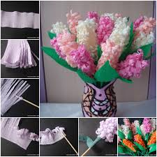 crepe paper flowers beautiful crepe paper hyacinth flower