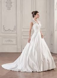 wedding dress gown v neck court satin lace wedding dress with ruffle