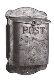 rustic galvanized metal bird post mailbox shabby chic style