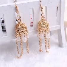 gold earring design with price 2017 fashion jewelry new model gold earrings designs with price