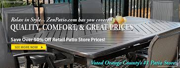 Patio Furniture San Fernando Valley by Patio Furniture Largest Selection In Orange County Zen Patio