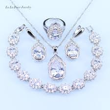 necklace jewelry australia images Buy l b australia crystal water drop silver 925 jpg