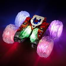 remote control car lights stunt racer 360 light up remote control car