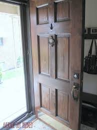 Wood Exterior Door To Refinish An Exterior Door The Easy Way
