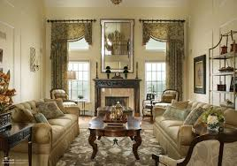 classic living room design flower vase on the top table floor