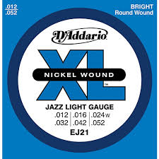 light electric guitar strings d addario ej21 xl nickel jazz light electric guitar strings