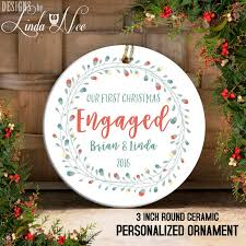 engagement ornament just engaged ornament mr and