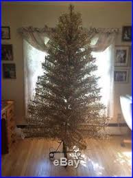 vintage starlite revlis 7 silver and gold tinsel tree